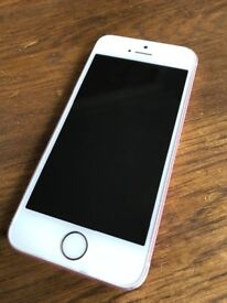 iPhone SE rose gold, unlocked and includes charger