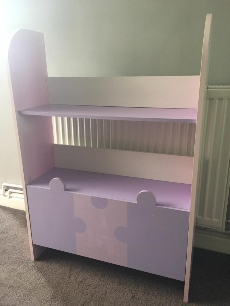 Children's pink Lilac bookcase