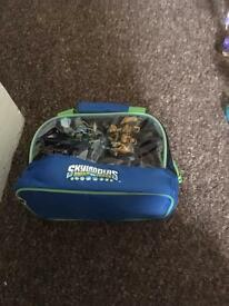 Sky landers figures,pod,disc and carry