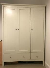 Triple wardrobe Ivory excellent condition £135