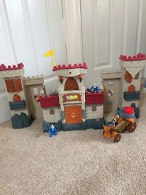 Imaginext fort set with vehicle and figures