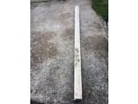 7ft slotted concrete fence post, steel reinforced, can be delivered