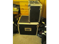 2 black flight cases