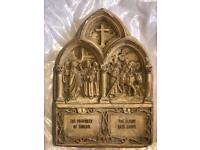 Antique Catholic Christian panel