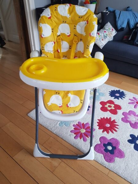 Cosatto high chair + free cot bumper + free toys + free bundle of baby clothes, muslins and sheets for sale  Golders Green, North West London