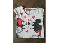 Mickey & Minnie girls top 9-10yrs