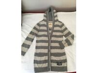 Hollister cardigan with hood Small