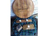 Recyled whisky barrel lid