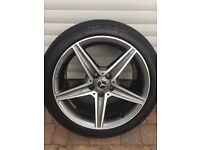 Genuine Mercedes C class AMG 18 inch alloy wheels and tyres