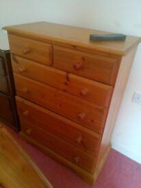 pine chester drawers 6 drawer set