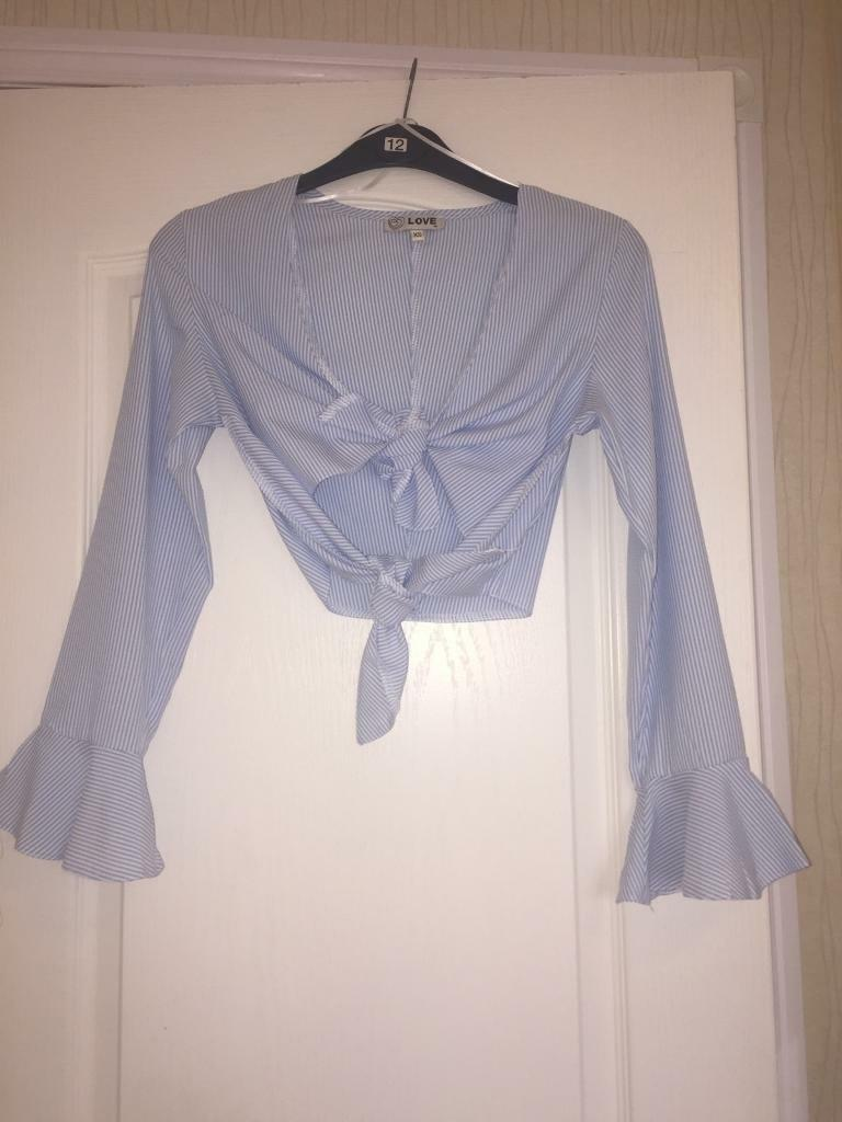 Top shop belly top shirt