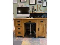 Oak Furniture Land Computer Desk