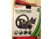 Vibration steering wheel and peddles