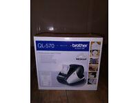 Brother QL-570 Label Printer - Free Del - Fylde Coast - CASH ONLY