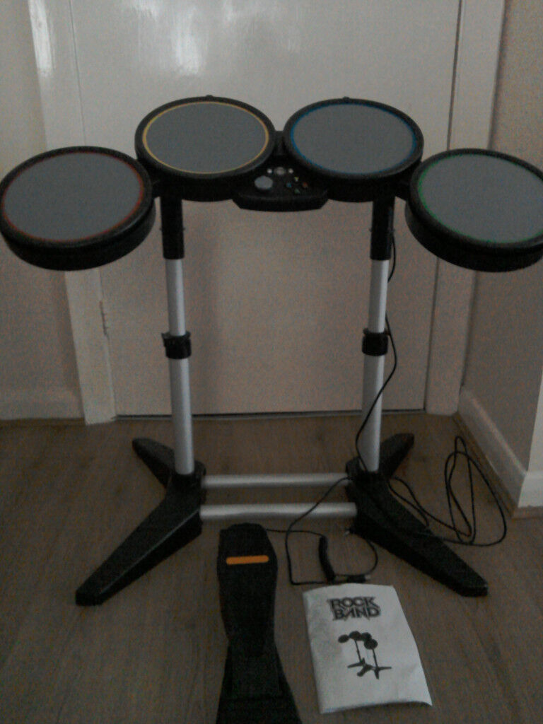 xbox 360 drum kit - includes manual and foot pedal