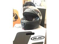 Black Matt motorcycle helmet HJC