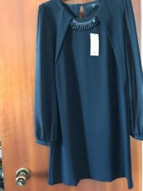 Black Dress with Chiffon Sleeves (Never worn tags still attached) - Size 14