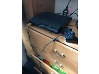 PS3 300gb slim with 33 games wireless controller and charger