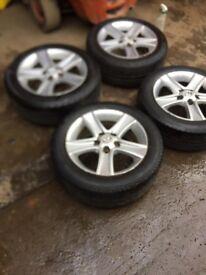 """Genuine Mazda 6 Set of alloy wheels with Bridgestone tyres 16"""""""
