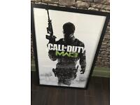 Call of Duty MW3 framed poster for sale .