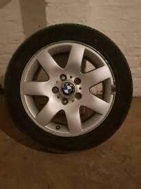 Bmw 4 rims with 4 good tyres