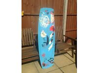 North Youngblood Kiteboarding board including footstraps.