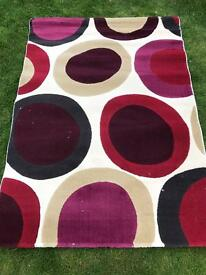 Colourful rug brand new