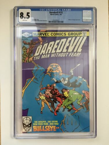 DAREDEVIL #172 CGC 8.5 (VF+) - Frank MIller-  Bullseye Kingpin Appearance