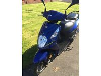 Sym Symply 50cc scooter Moped (2014) Blue 6700 miles