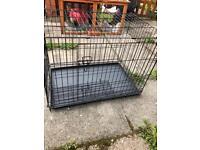 Dog cage hardly used. Large.