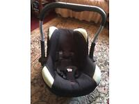 Silver corss baby carseat black good condition used £6