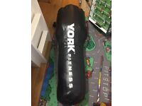 York Fitness Tethered Upper Cut Punch Bag - Black/Green 4ft