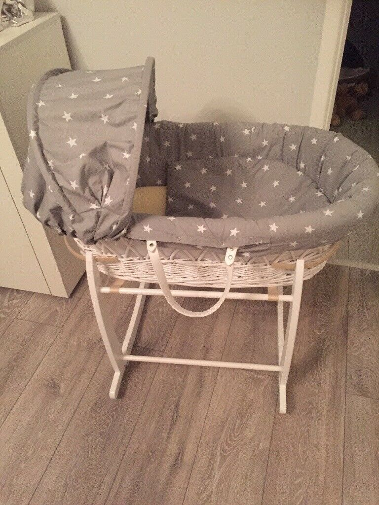 Moses basket and stand Clair de Lune