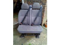 Rear double seats for van camper crew ford transit Mercedes crafter sprinter VW T4 T5 seatbelts
