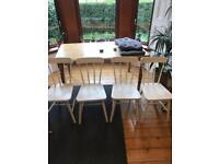 Set of 4 white Ikea chairs