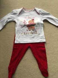Christmas pyjamas size 6-9 months