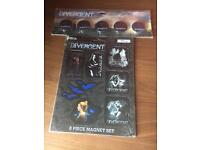 Divergent factions pin set and magnet set