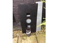 Solid fuel register plate