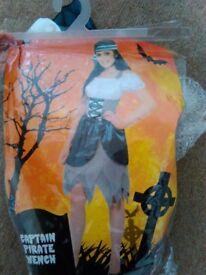 PIRATE WENCH / CAPTAIN FANCY DRESS OUTFIT SIZE 12/14 PARTY OR HEN DO