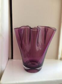 Glass vase purple John Lewis