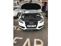 White Audi A3 S line