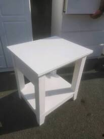 Bedside Table - Quality Solid White Bedside Table