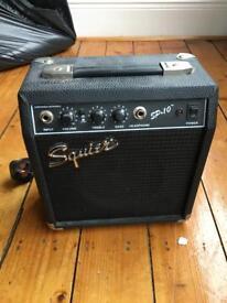 Fender Squier practice guitar amp