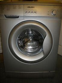 Bush Washing Machine in Silver