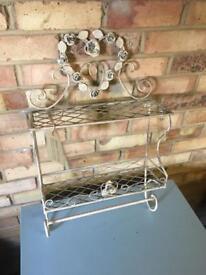 Floral metal rack