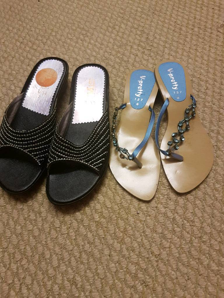 Two pairs of slippers