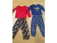 2x fleece pajamas