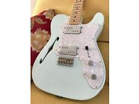 Fender 72 Telecaster Thinline, Special Edition, Sonic Blue, Maple neck - Brand New!