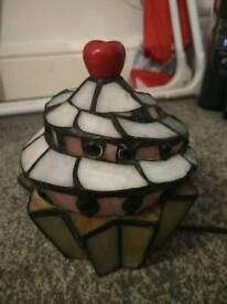 Tiffany style cupcake lamp