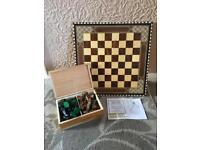 Handmade chess game set